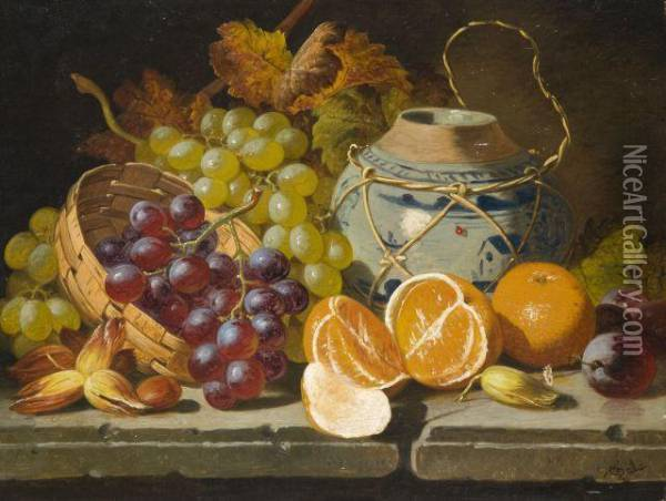 Nature Morte Oil Painting - Charles Thomas Bale
