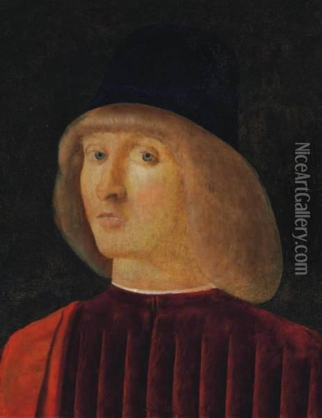 Portrait Of A Man, Bust-length Oil Painting - Giovanni Bellini