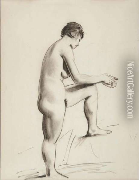 Nude Study Oil Painting - George Wesley Bellows