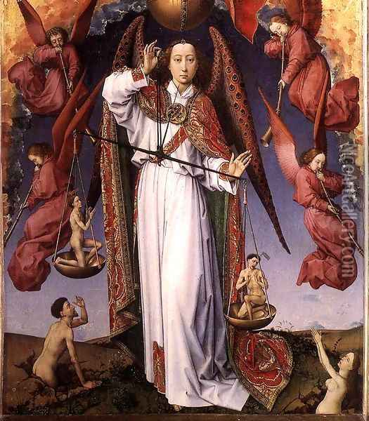 The Last Judgment (detail-11) 1446-52 Oil Painting - Rogier van der Weyden