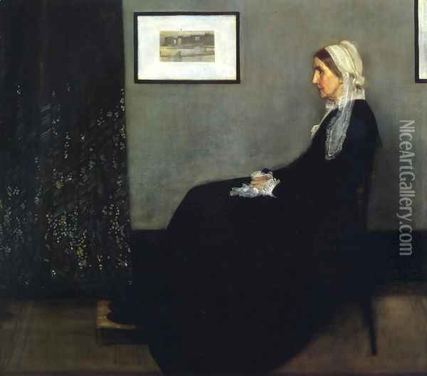 Arrangement in Grey and Black- Portrait of the Artist's Mother 1871 Oil Painting - James Abbott McNeill Whistler
