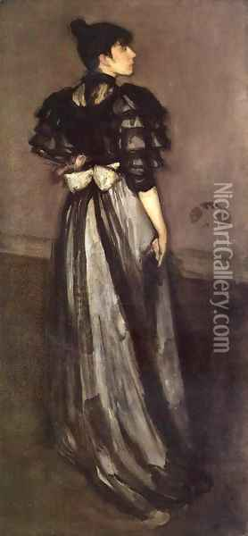 Mother of Pearl and Silver: The Andalusian Oil Painting - James Abbott McNeill Whistler