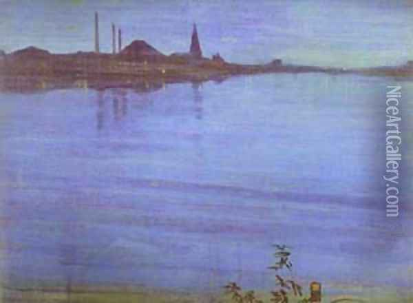 Nocturne In Blue And Silver 1871 2 Oil Painting - James Abbott McNeill Whistler