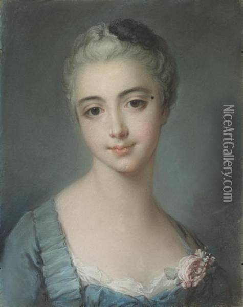 Portrait Of Ayoung Lady Oil Painting - Francois Boucher