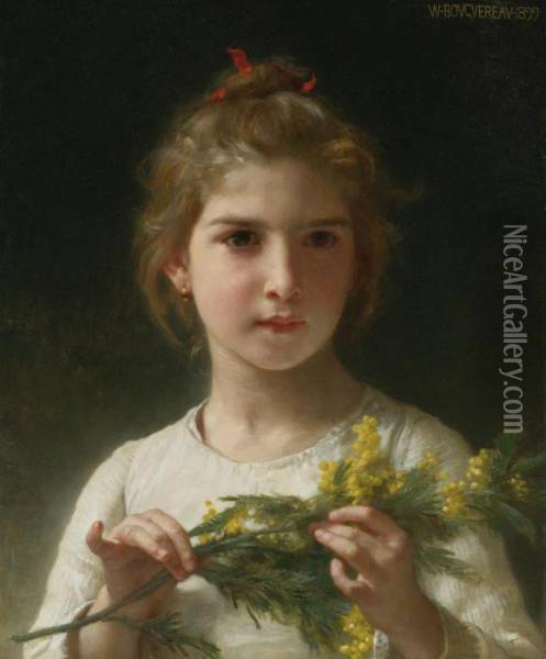 Mimosa Oil Painting - William-Adolphe Bouguereau