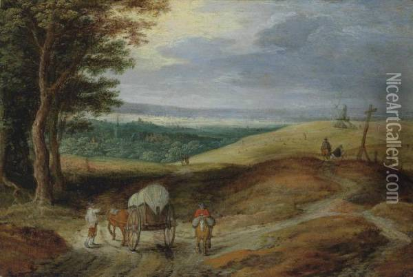 An Extensive Landscape Oil Painting - Jan Brueghel the Younger