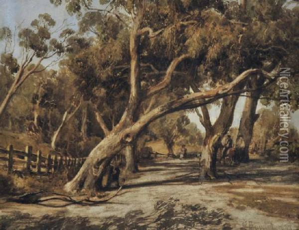Country Road Oil Painting - Abraham Louis Buvelot