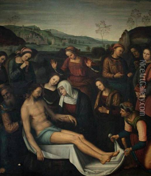 The Deposition Oil Painting - Giovanni Domenico Cerrini