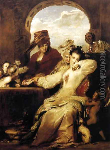 Josephine and the Fortune-Teller 1837 Oil Painting - Sir David Wilkie