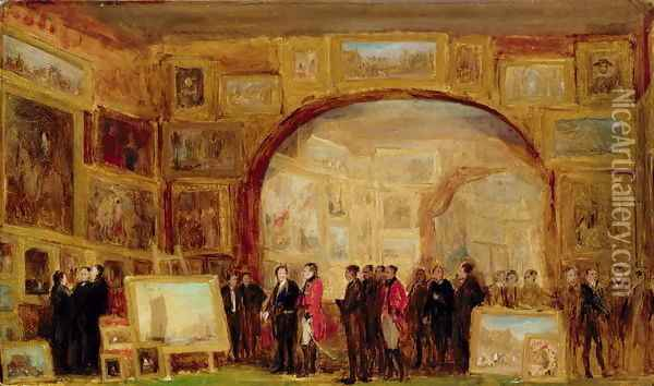 An Exhibition of Old Masters at the British Institution Oil Painting - Sir David Wilkie