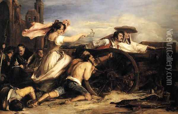 The Defence of Saragossa 1828 Oil Painting - Sir David Wilkie
