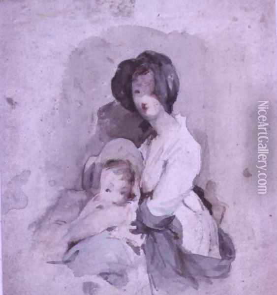 A Study of the Baby in the Peep o Day Boy Oil Painting - Sir David Wilkie