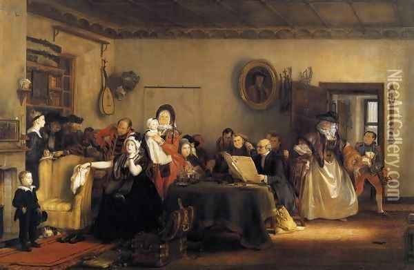 Reading the Will 1820 Oil Painting - Sir David Wilkie