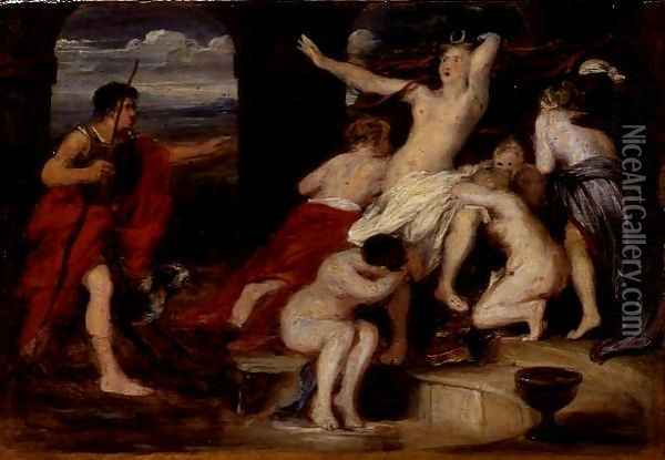 Diana and Actaeon Oil Painting - Sir David Wilkie