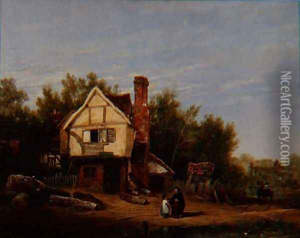 Landscape with Cottages Oil Painting - Sir David Wilkie
