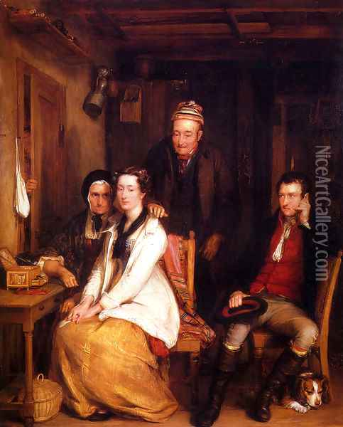 The Refusal From Burn's Oil Painting - Sir David Wilkie