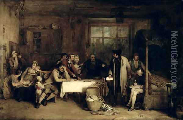Distraining for Rent, 1815 Oil Painting - Sir David Wilkie