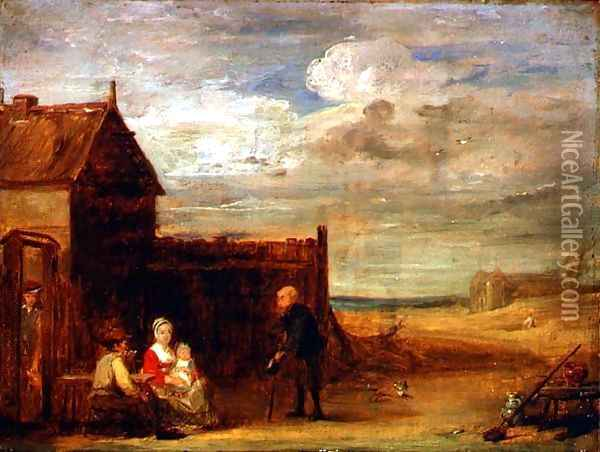 Figures by a Country Tavern Oil Painting - Sir David Wilkie