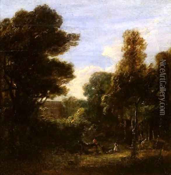 A Woody Landscape Oil Painting - Sir David Wilkie
