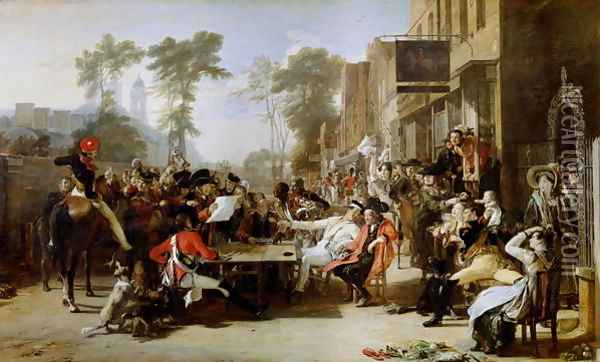 The Chelsea Pensioners Reading the Waterloo Dispatch, 1822 Oil Painting - Sir David Wilkie