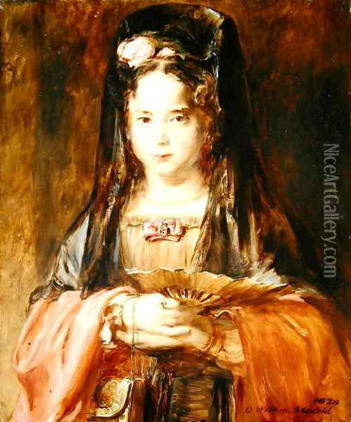 The Spanish Girl, 1828 Oil Painting - Sir David Wilkie