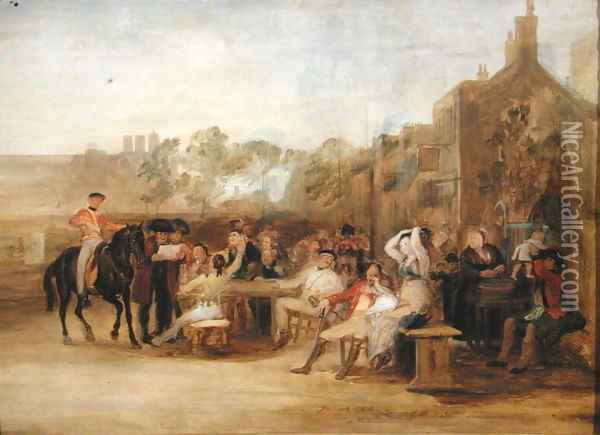 Study for 'Chelsea Pensioners Reading the Waterloo Dispatch, 1822 Oil Painting - Sir David Wilkie