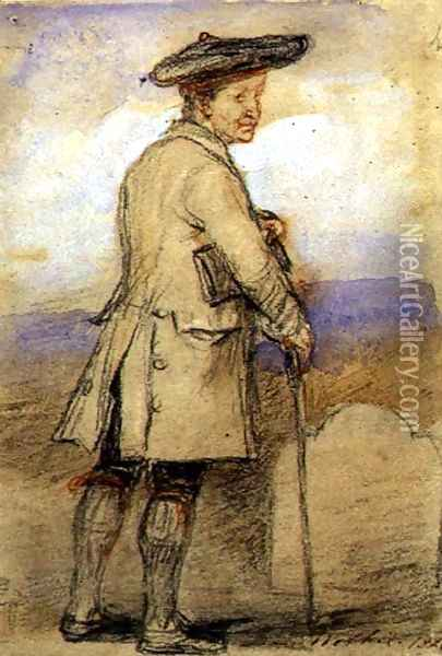 Study for Old Mortality Oil Painting - Sir David Wilkie