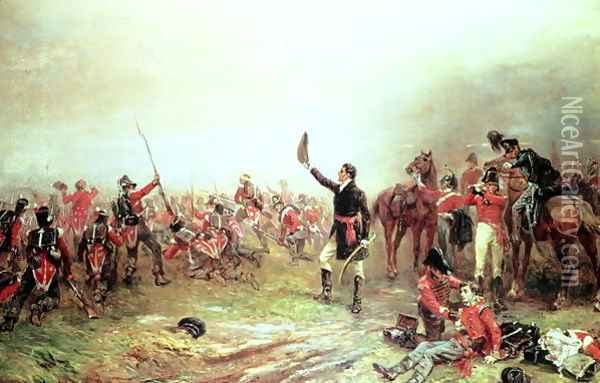 The Battle of Waterloo 18th June 1815 Oil Painting - Sir David Wilkie