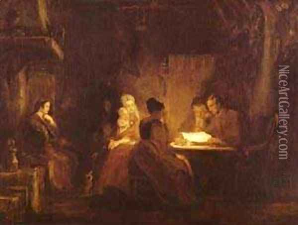 The Cotters Saturday Night 1837 Oil Painting - Sir David Wilkie