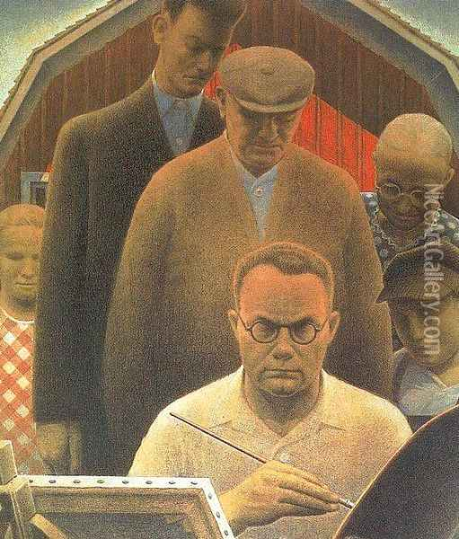 Return from Bohemia Oil Painting - Grant Wood