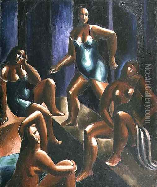 Bathers Oil Painting - Christopher Wood