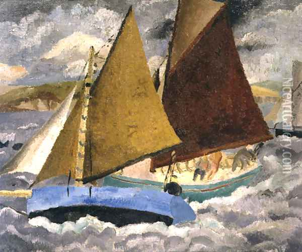 Yacht Race at Portscato, Cornwall, 1928 Oil Painting - Christopher Wood