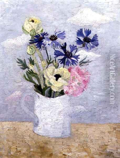 Flowers in a White Mug Oil Painting - Christopher Wood