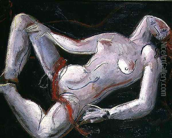 Reclining Nude Oil Painting - Christopher Wood