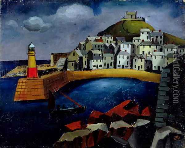 The Harbour, 1926 Oil Painting - Christopher Wood