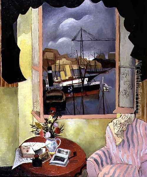 Window at Marseilles, 1927 Oil Painting - Christopher Wood