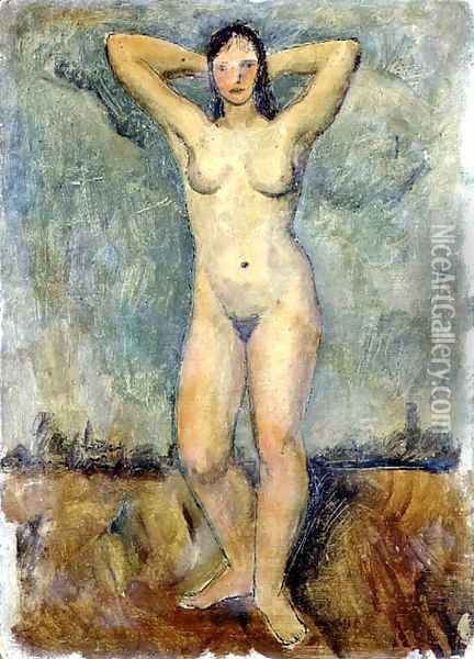Standing Nude Oil Painting - Christopher Wood