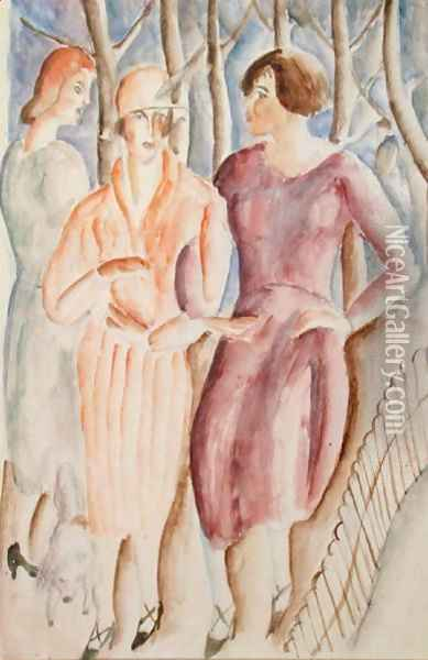 French Girls, c.1926 Oil Painting - Christopher Wood