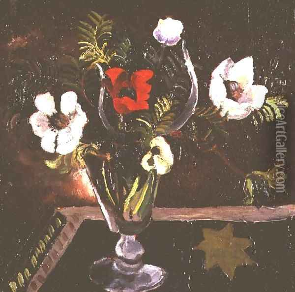 Still Life of Flowers Oil Painting - Christopher Wood