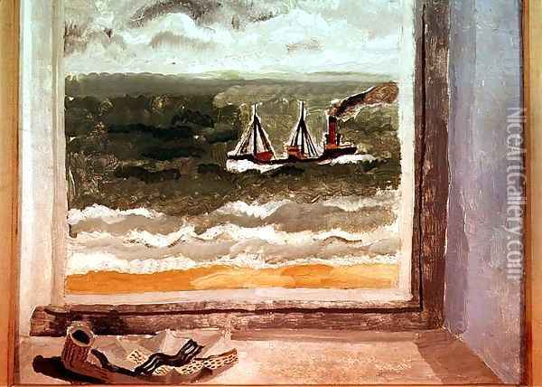 From a Cornish Window, 1928 Oil Painting - Christopher Wood