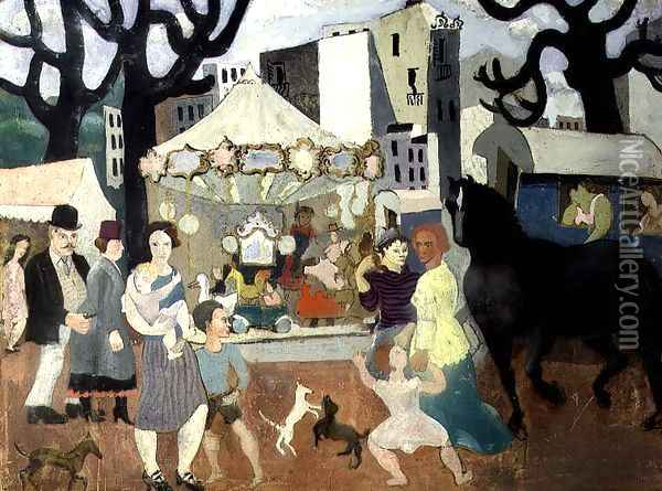 Fair at Neuilly, 1923-24 Oil Painting - Christopher Wood