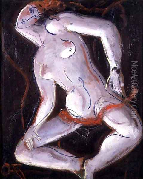 Reclining Nude 2 Oil Painting - Christopher Wood