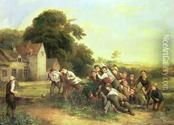The Football Game Oil Painting - Thomas Webster