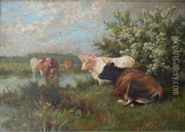In The Maytime Oil Painting - Charles Collins