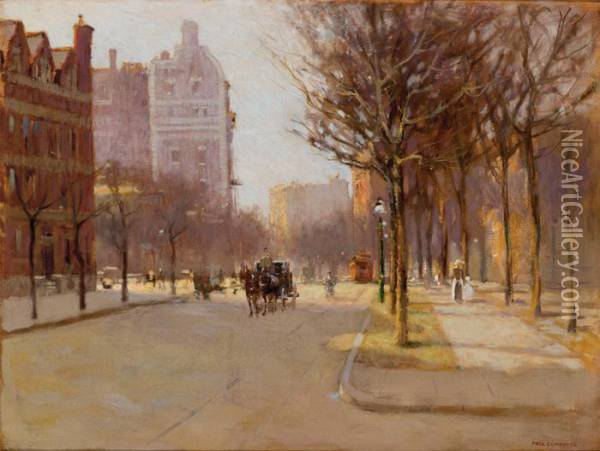 A Spring Day, New York Oil Painting - Paul Cornoyer