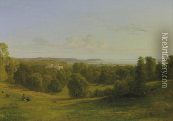 View Over The Mouth Of The Avon And King's Weston House Oil Painting - Francis Danby