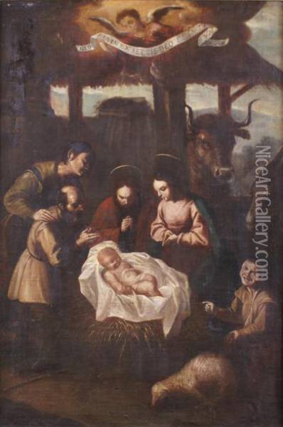 Nativite Oil Painting - Juan de Zurbaran