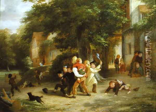 The Playground Oil Painting - Thomas Webster
