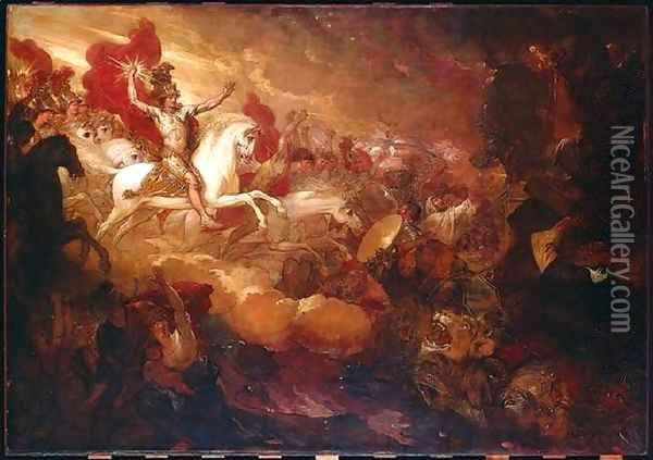 Destruction of the Beast and the False Prophet Oil Painting - Benjamin West