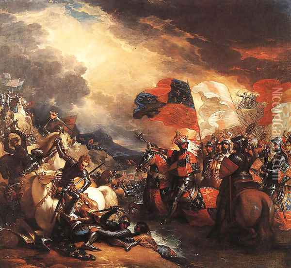 Edward III Crossing the Somme (1788) Oil Painting - Benjamin West